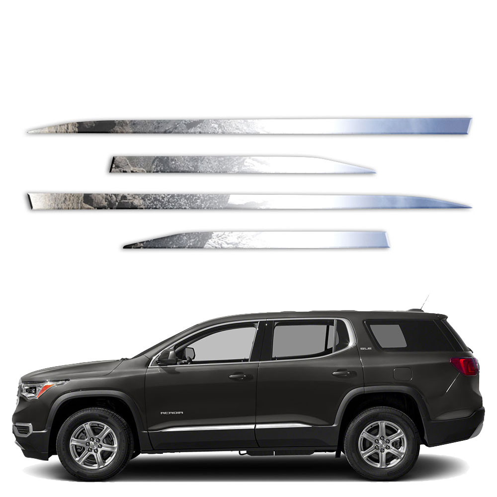 2019 Gmc Acadia: 4p Stainless Accent Trim Fits 2017-2019 GMC Acadia By