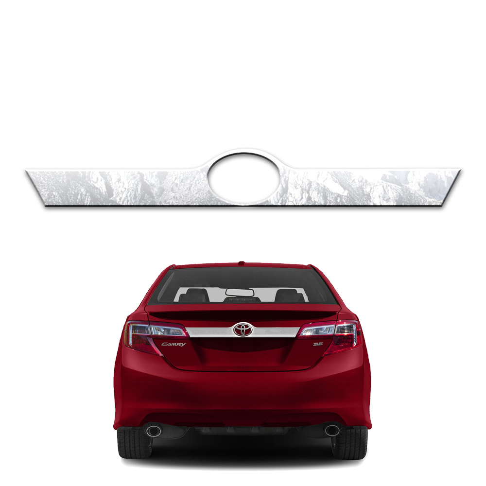 Stainless Trunk Trim W/Logo Cutout Fits 2012-14 Toyota