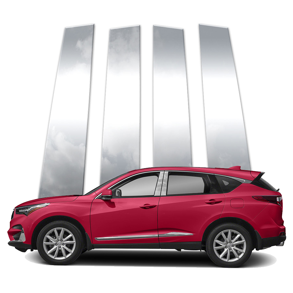 4pc Stainless Pillar Post Covers Fits 2019-2020 Acura RDX