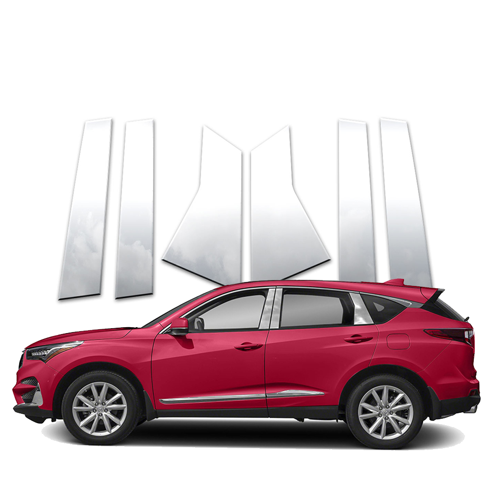 6pc Stainless Pillar Post Covers Fits 2019-2020 Acura RDX