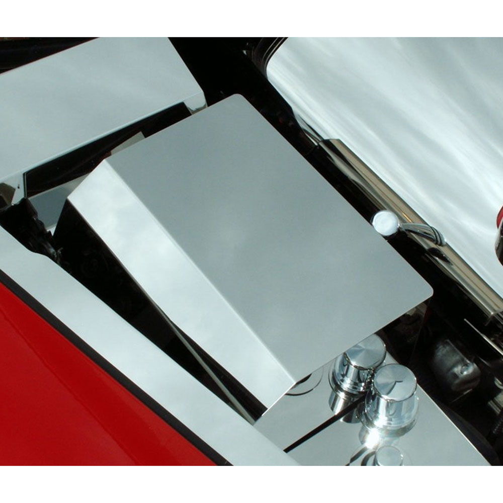ACC Fuse Box Cover fits 2005-2013 Chevy Corvette C6-Stainless Steel/Polished
