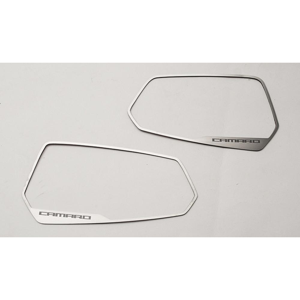 Side View Mirror Trim /'Camaro/' Logo for 2010-2013 Chevy Camaro Brushed
