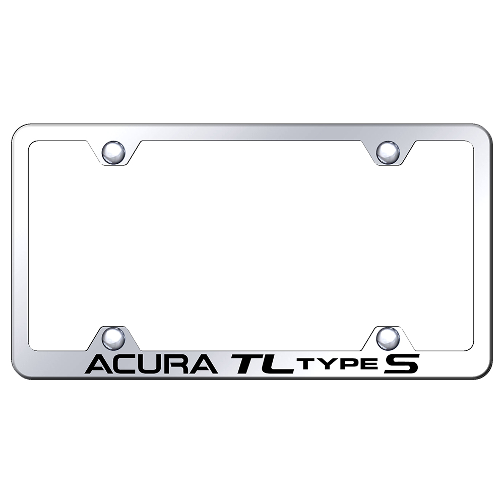 Wide Body License Plate Frame For Acura TL Type S On Steel