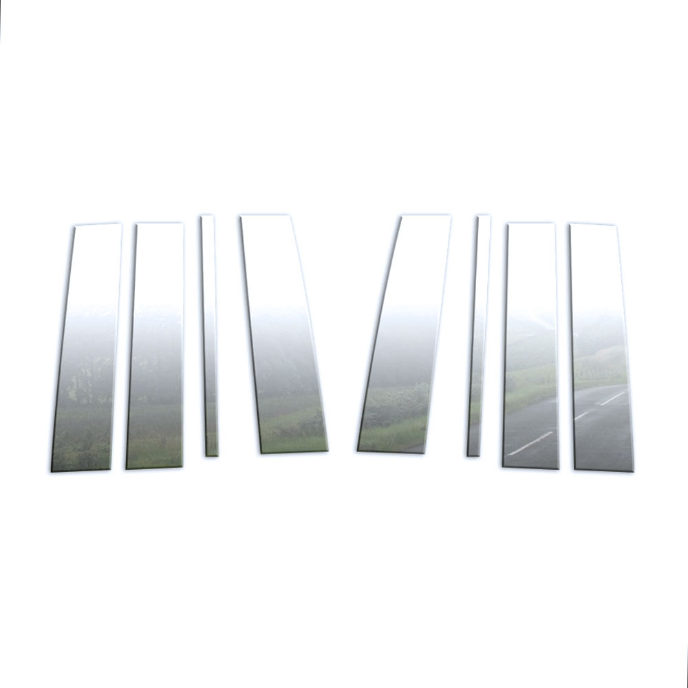 8pc Stainless Steel Pillar Post Covers For 2016-2019