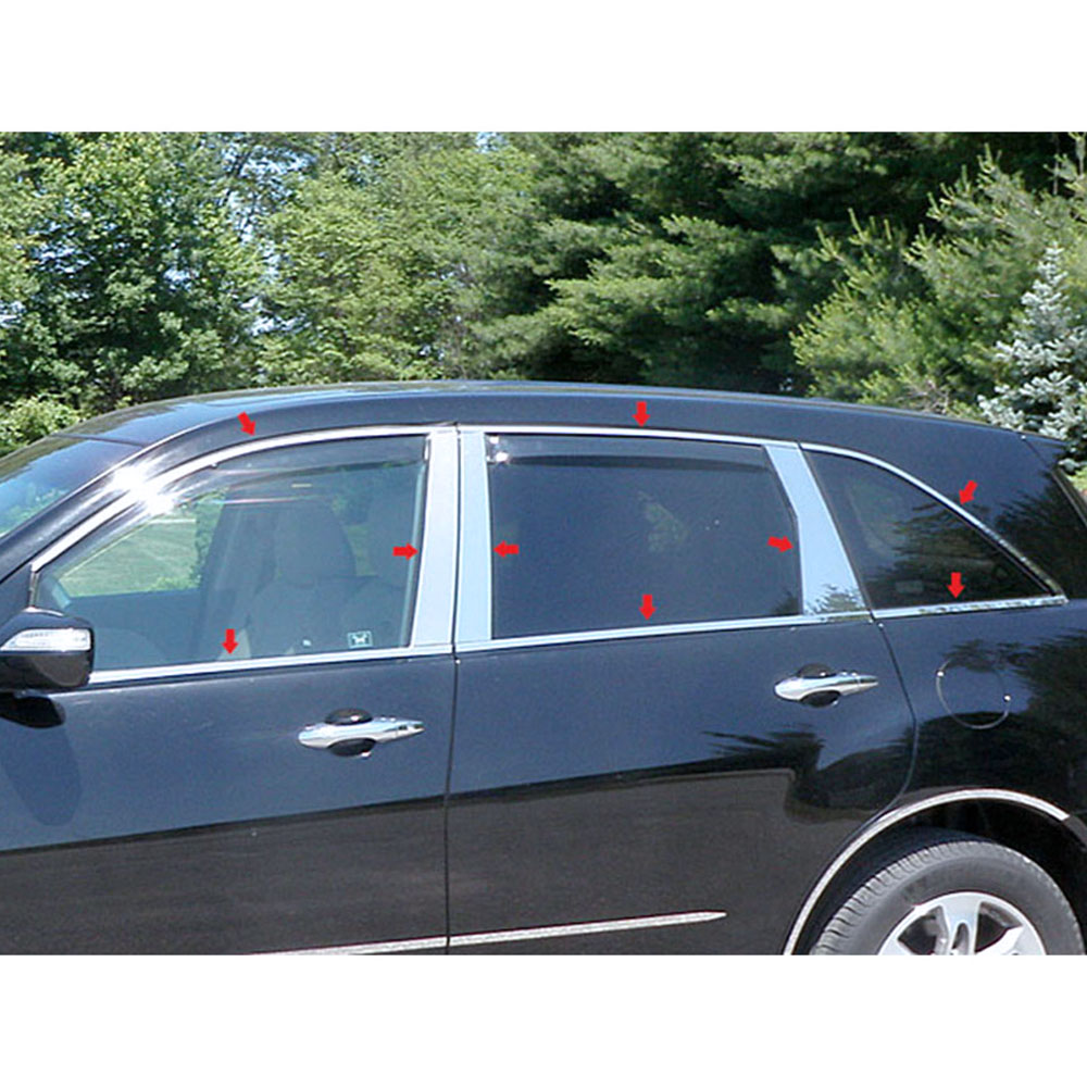18p Luxury FX Chrome Window Package (w/Posts & Sill) For