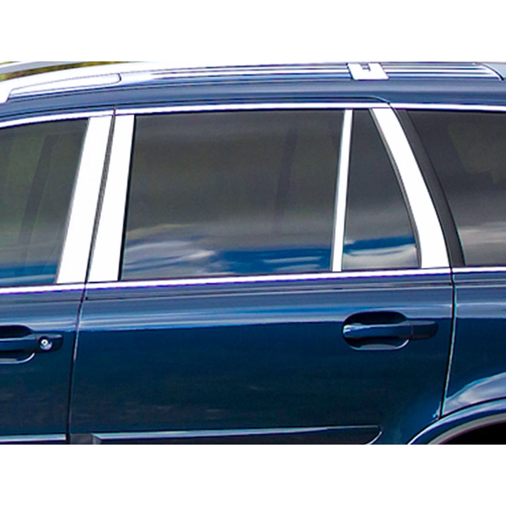 2003-2014 Volvo XC90 6Pc Chrome Pillar Post Stainless Steel Trim Door Cover