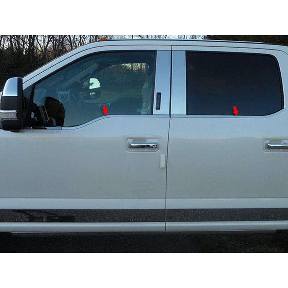 4pc Luxury FX Window Sill Trim Set for 2015-2019 Ford F-150 Super Crew Cab