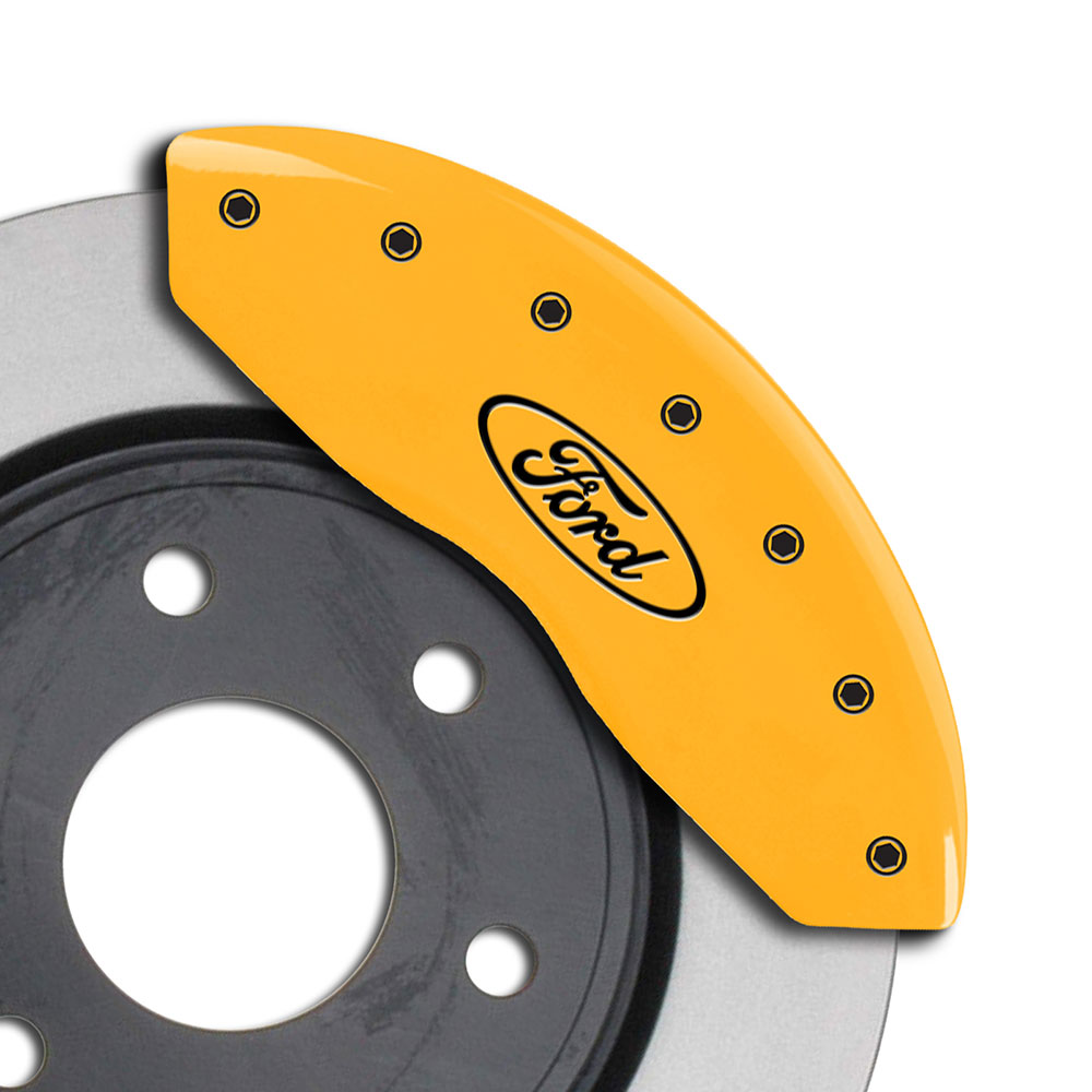 MGP Caliper Covers Set of 4 Engraving For 1997-2004 Ford F-150-Yellow