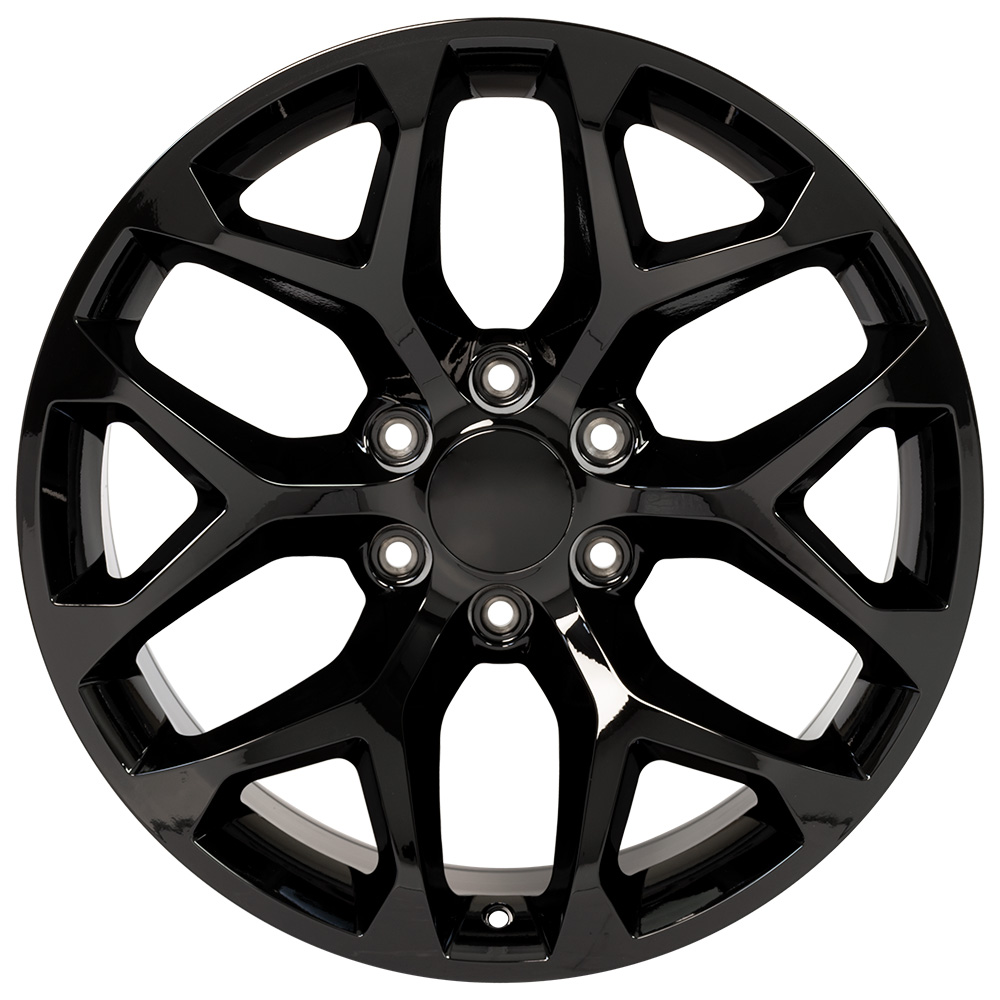 """Black 20"""" Wheel - 20x9 #5668 - Compatible With Sierra"""