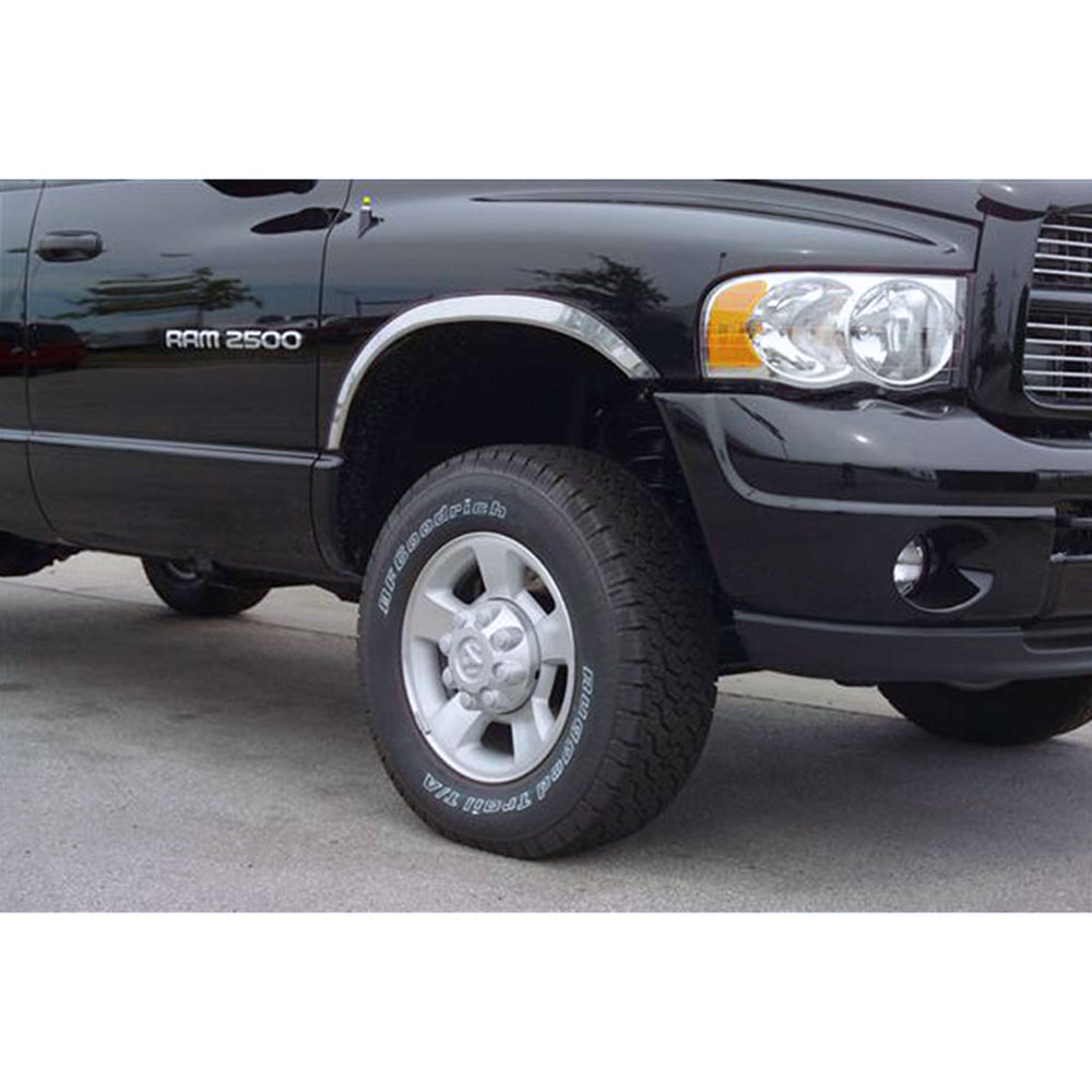 Polished Stainless Steel Fender Trim For 2010 2018 Dodge