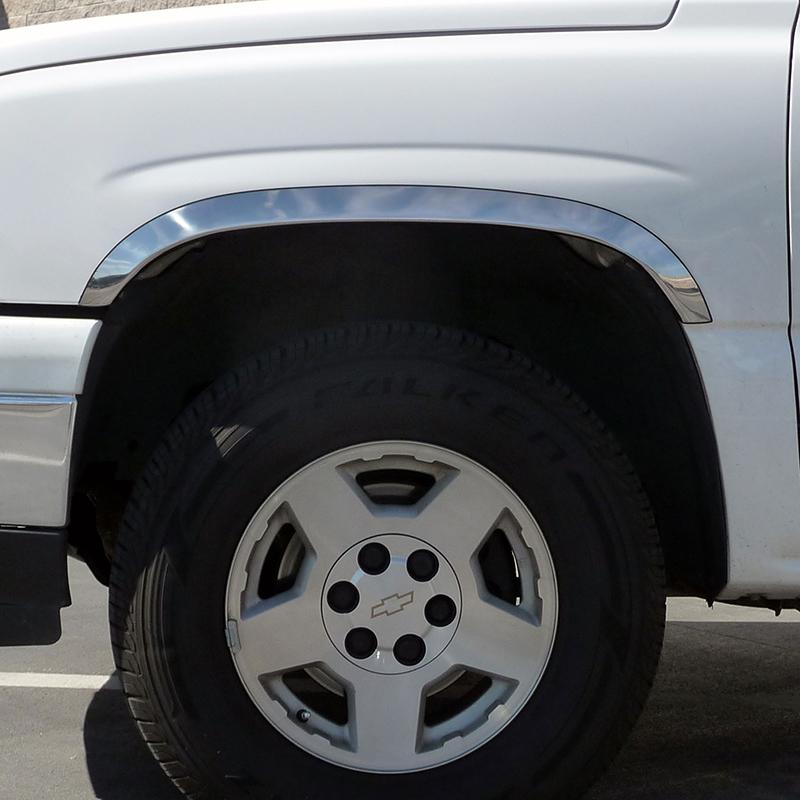 GMC Yukon XL Stainless Steel Fender Wheel Molding 2000-2006 Chevrolet Suburban
