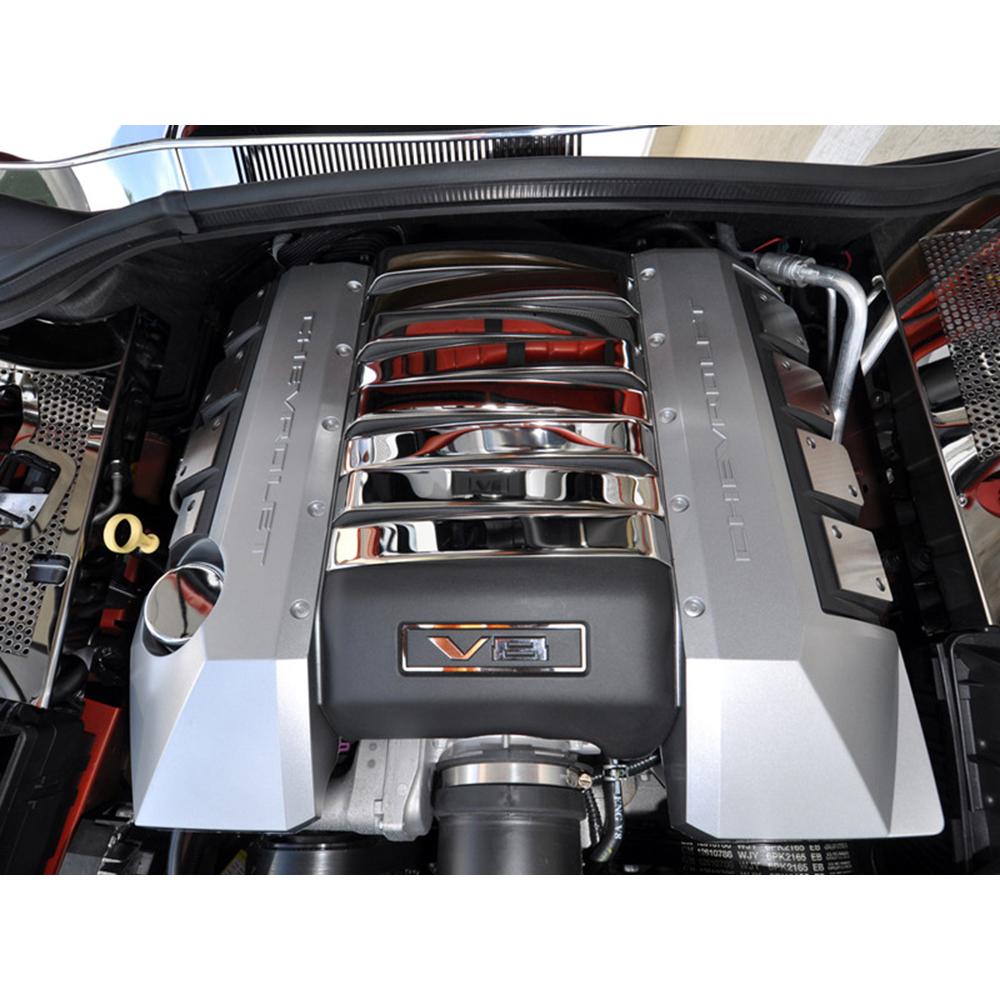 Camaro 2016-2019 V8 8 Pc Stainless Steel ENGINE SHROUD COVER KIT chrome dress up