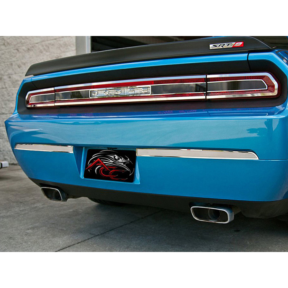Stainless//Brushed Side Console Trim Plate 4p for 2008-14 Dodge Challenger SRT8