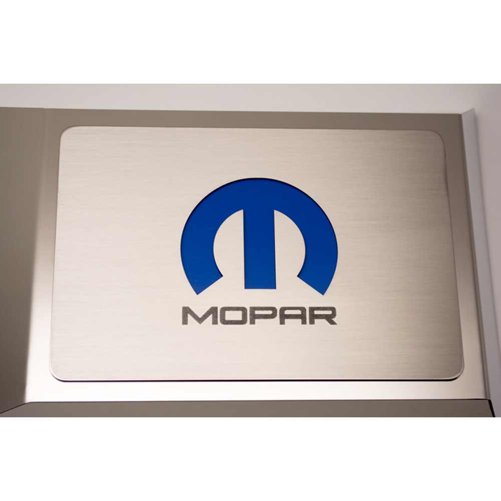 Fuse Box Plate W Blue Mopar M Inlay For 2008 15 Challenger Charger Sign By American Car Craft