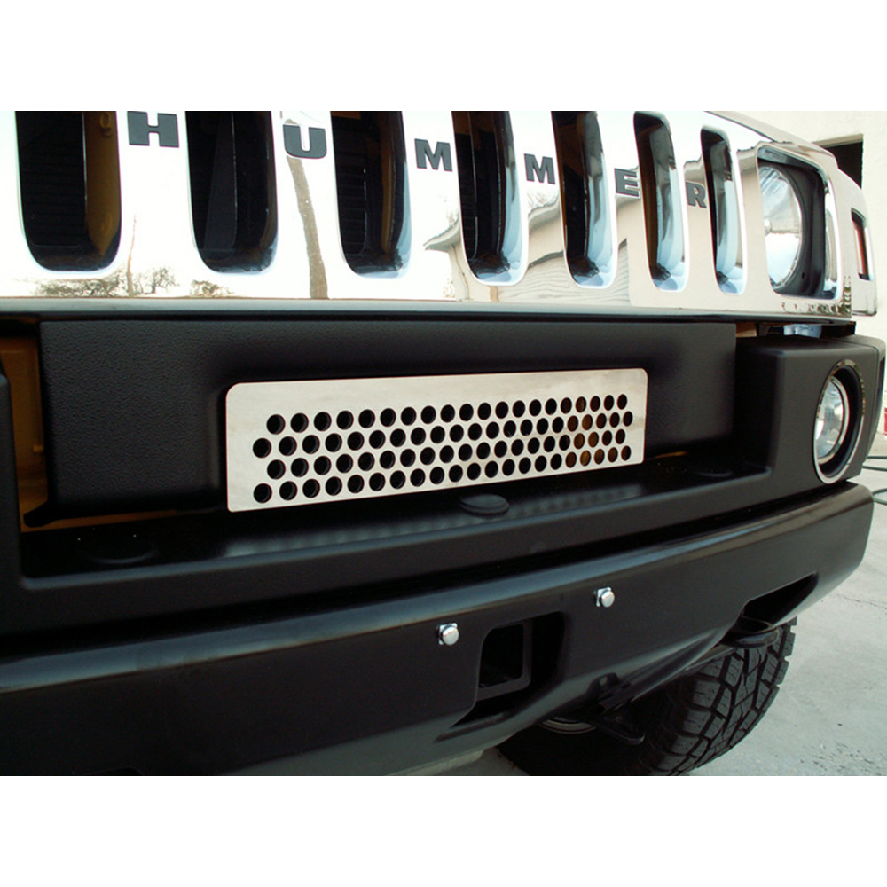 2007 Hummer H2 Exterior: Polished Stainless Steel Lower Front Grille Overlay For