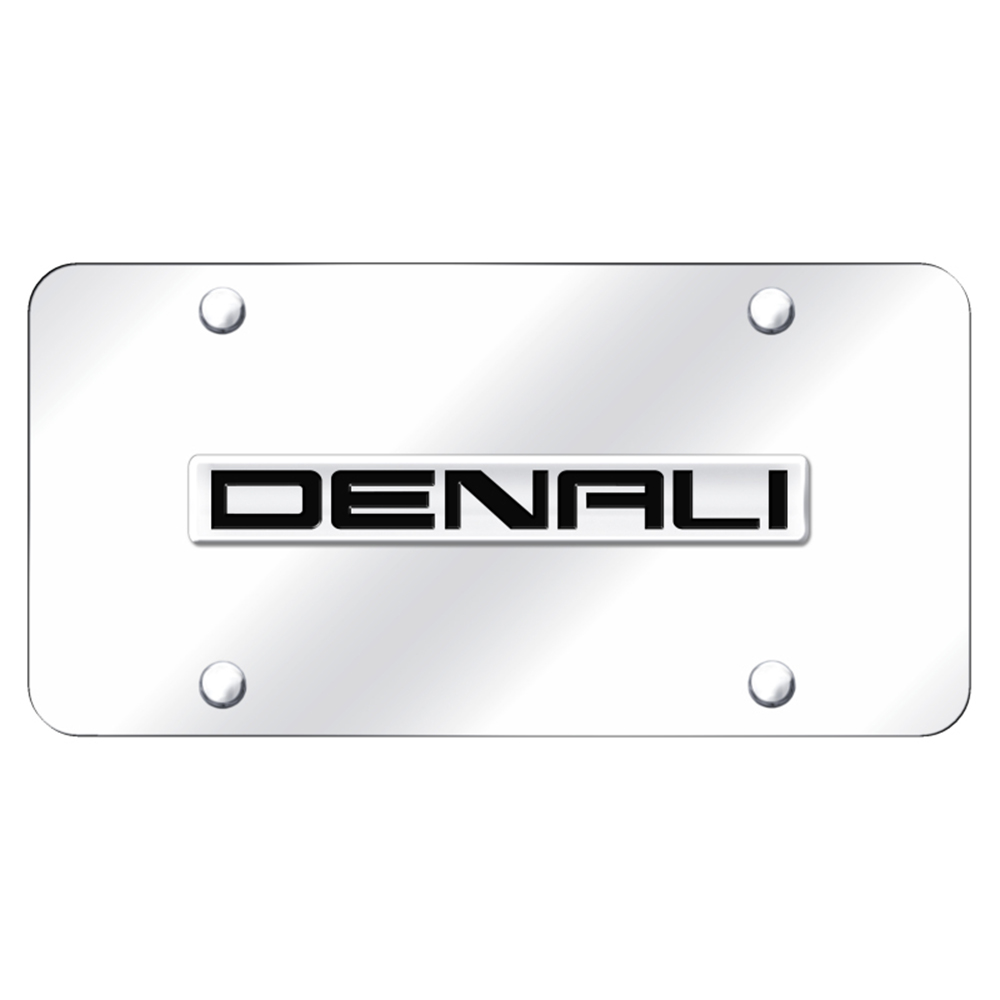 Chrome Name on Black License Plate Officially Licensed for Chevrolet Suburban
