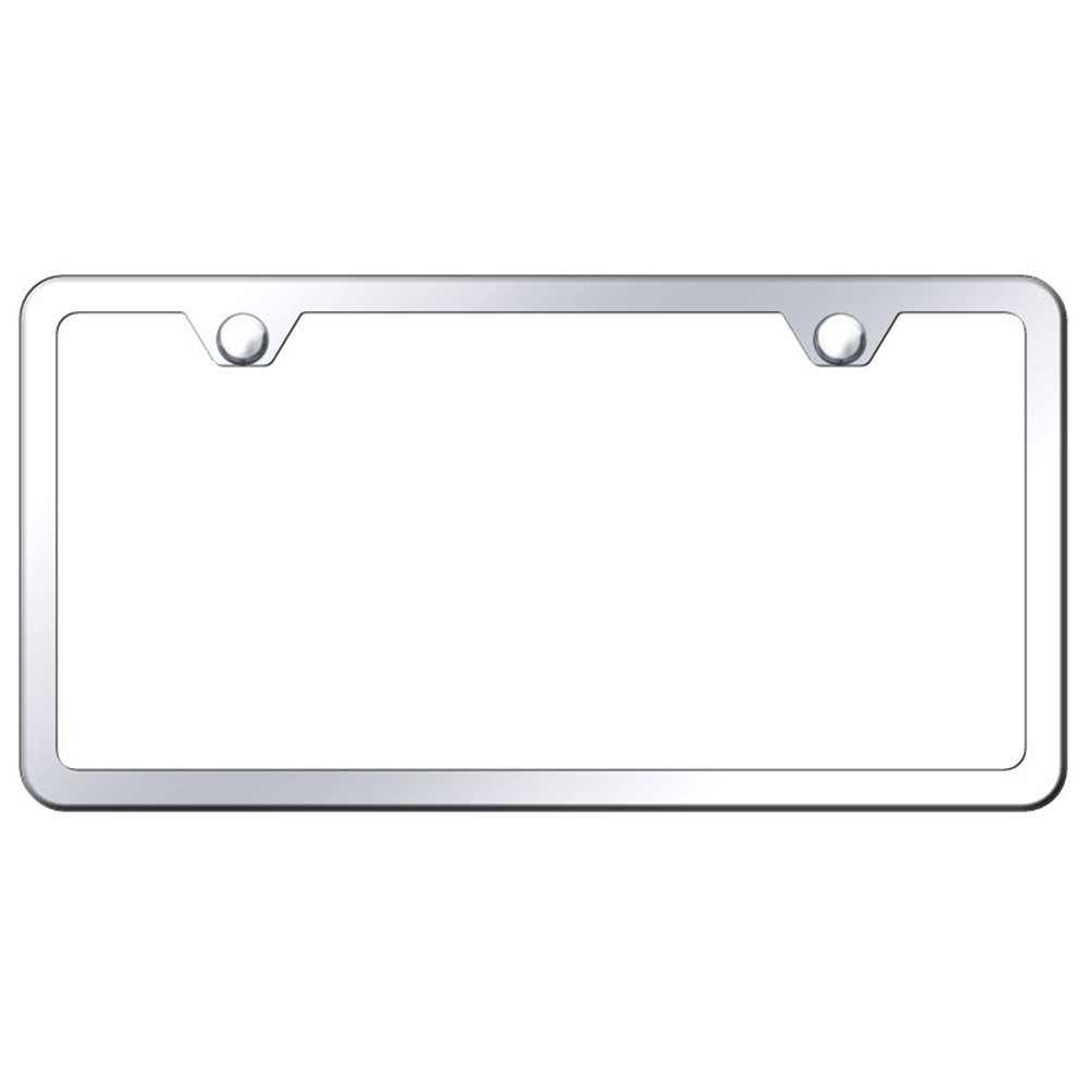2-Hole License Plate Frame with Gold Stainless Steel Slimline Single
