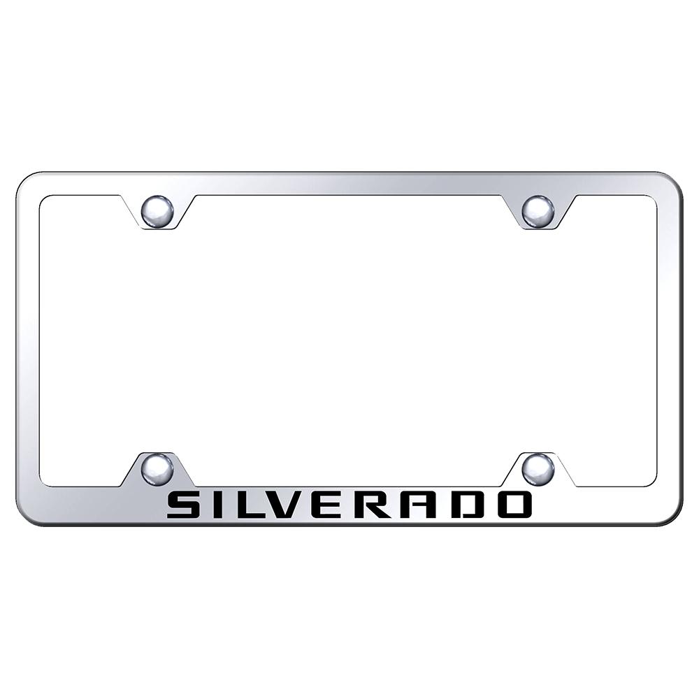 Chevrolet Silverado On Stainless Steel Wide Body License