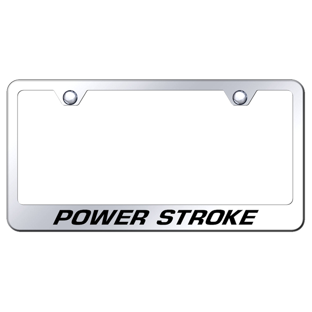 Ford Powerstroke on Stainless Steel License Plate Frame - Officially ...