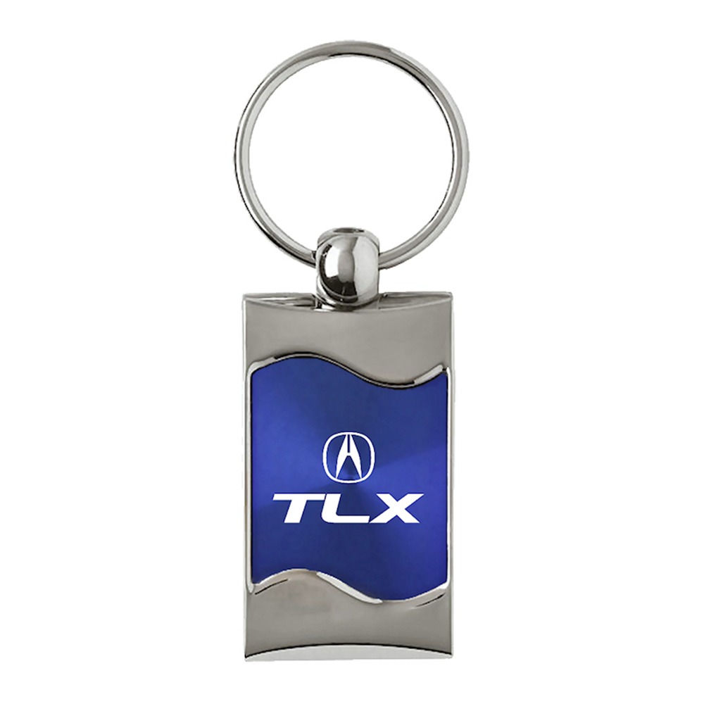 Acura Tlx Pricing: Acura TLX On Blue Rectangular Wave Keychain
