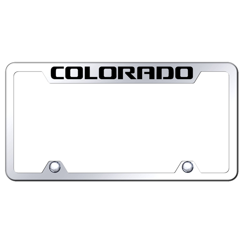 Chevrolet Colorado on Mirrored Truck License Plate Frame ...
