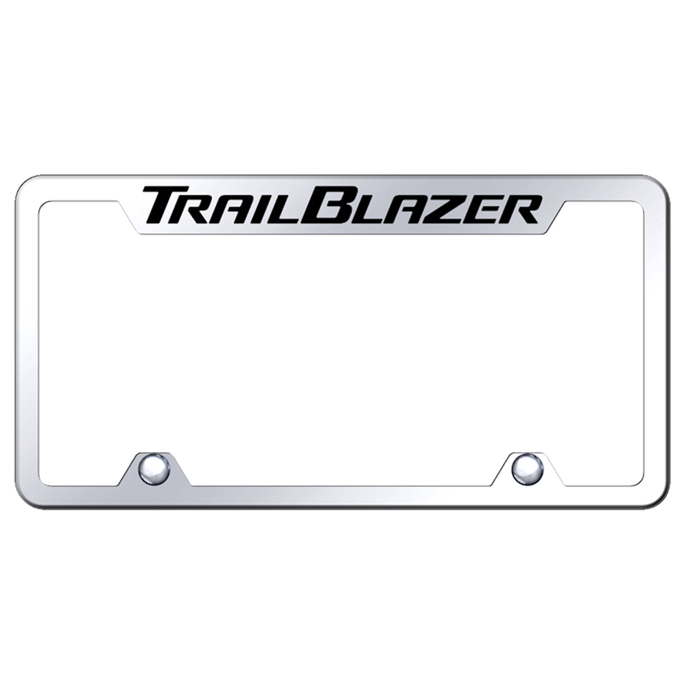 Chevrolet Trailblazer on Mirrored Truck License Plate Frame | eBay