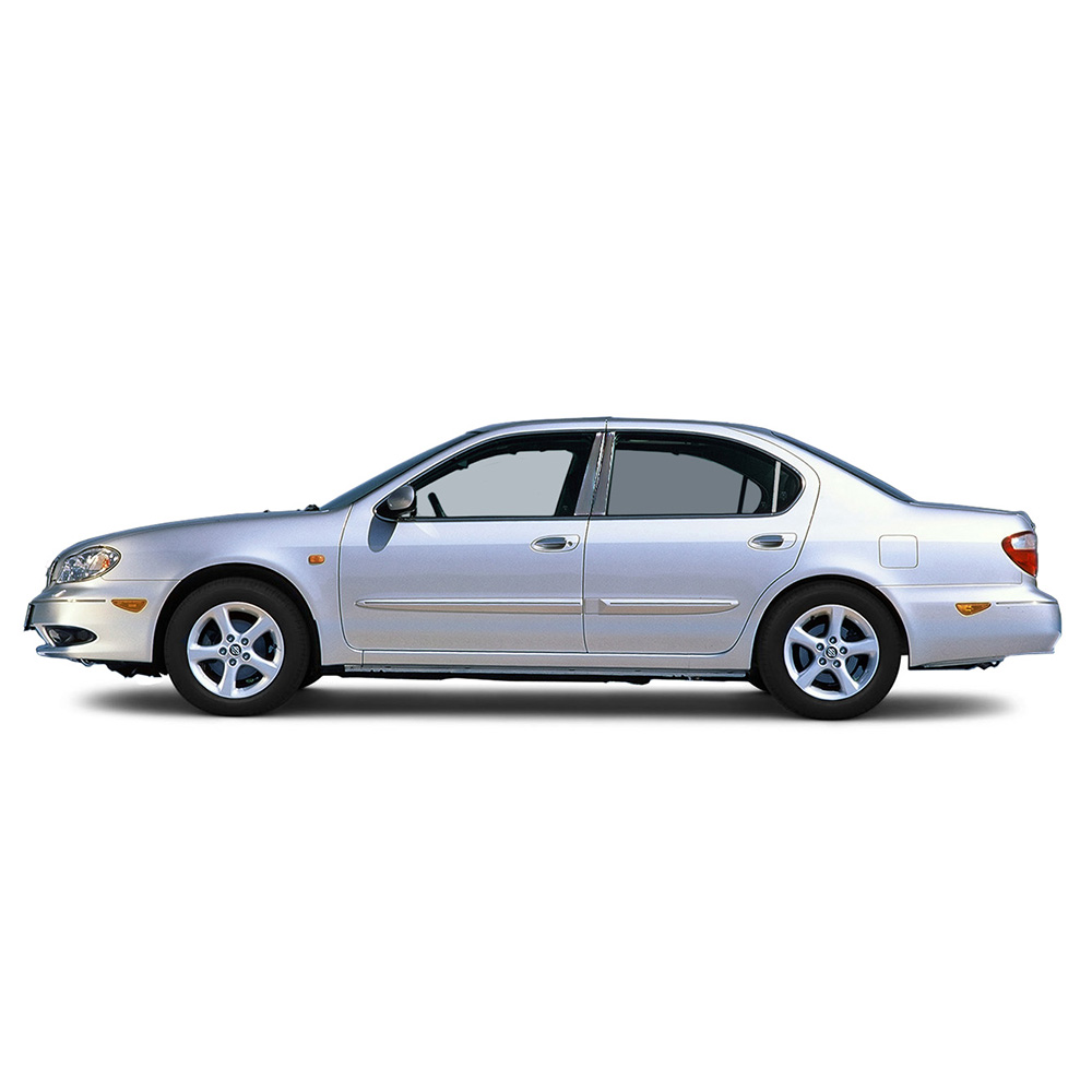 6pc Stainless Steel Pillar Post Covers for 2000-2003 Nissan Maxima