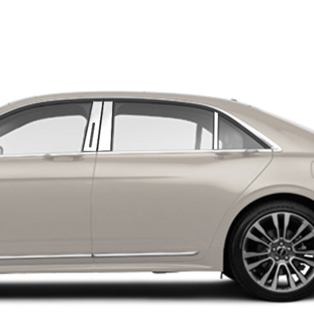 2017-2019 Lincoln Continental 4Pc Chrome Pillar Post Trim Stainless Steel Door