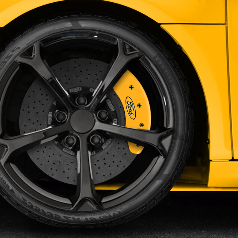 Front Yellow Caliper Covers For 2012-2018 Ford Focus S/SE ...