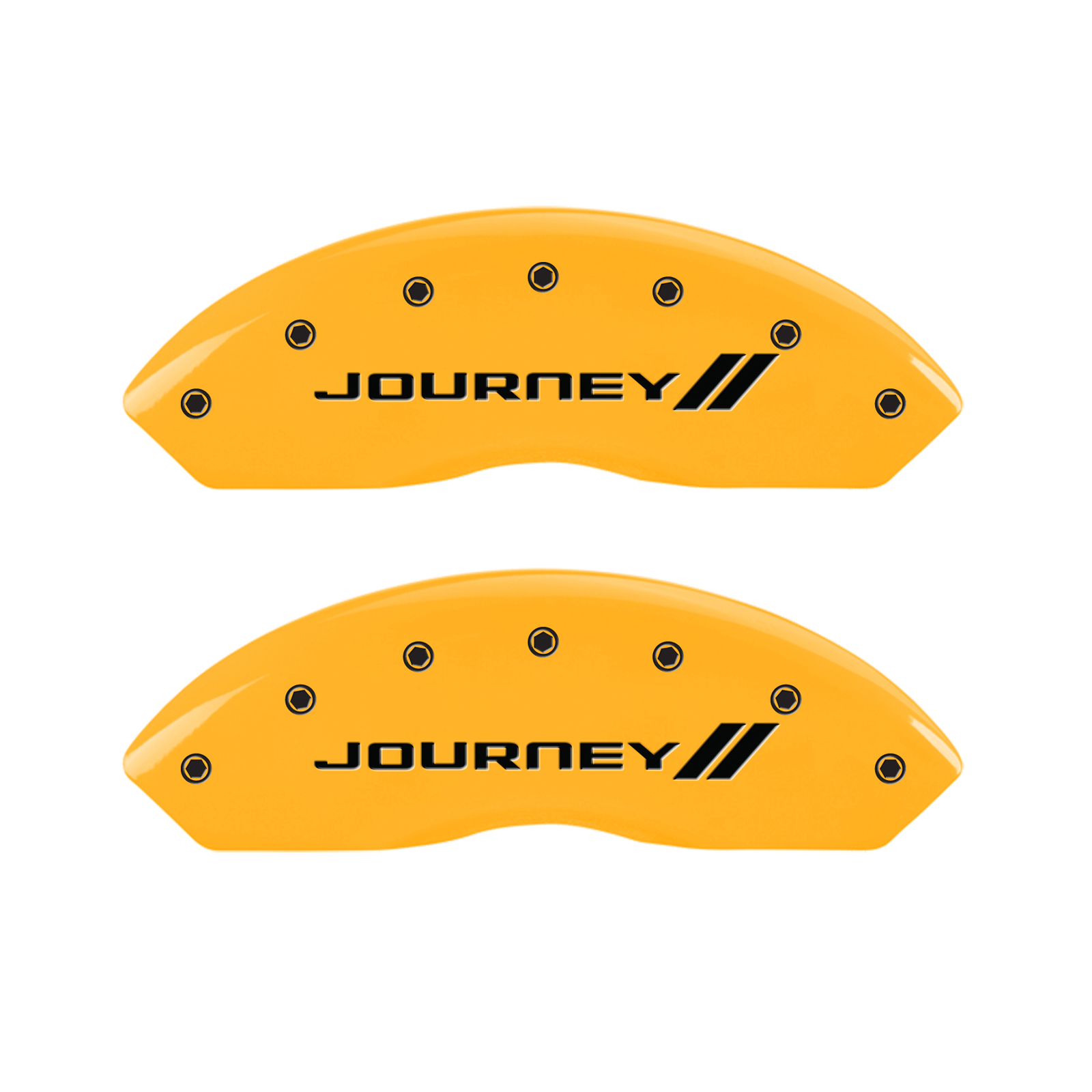 Yellow W/Stripes 'Journey' Caliper Covers For 2012-2019