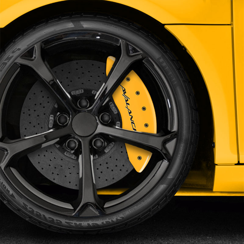 Installation Of 2002 Chevrolet Avalanche 2500 Brakes: Yellow Avalanche Caliper Covers For 2002-2006 Chevrolet