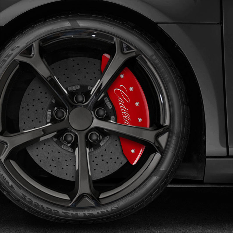 Red CTS4 Caliper Covers For 2009-2019 Cadillac CTS RWD/AWD