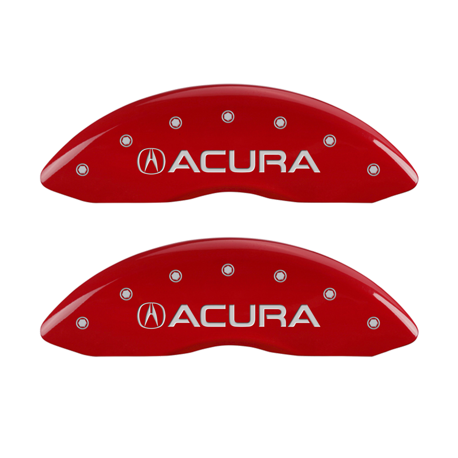 Set Of 4 Red Acura & MDX Caliper Covers For 2014-2016