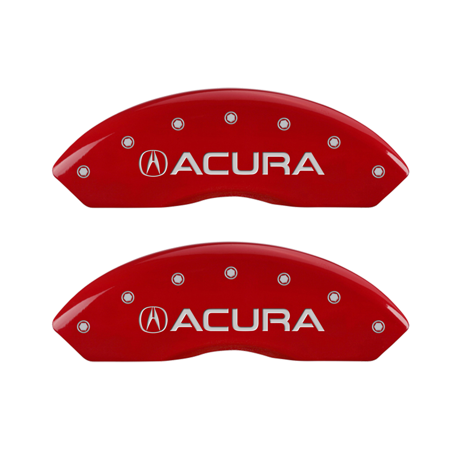Set Of 4 Red Acura & TLX Caliper Covers For 2015-2018