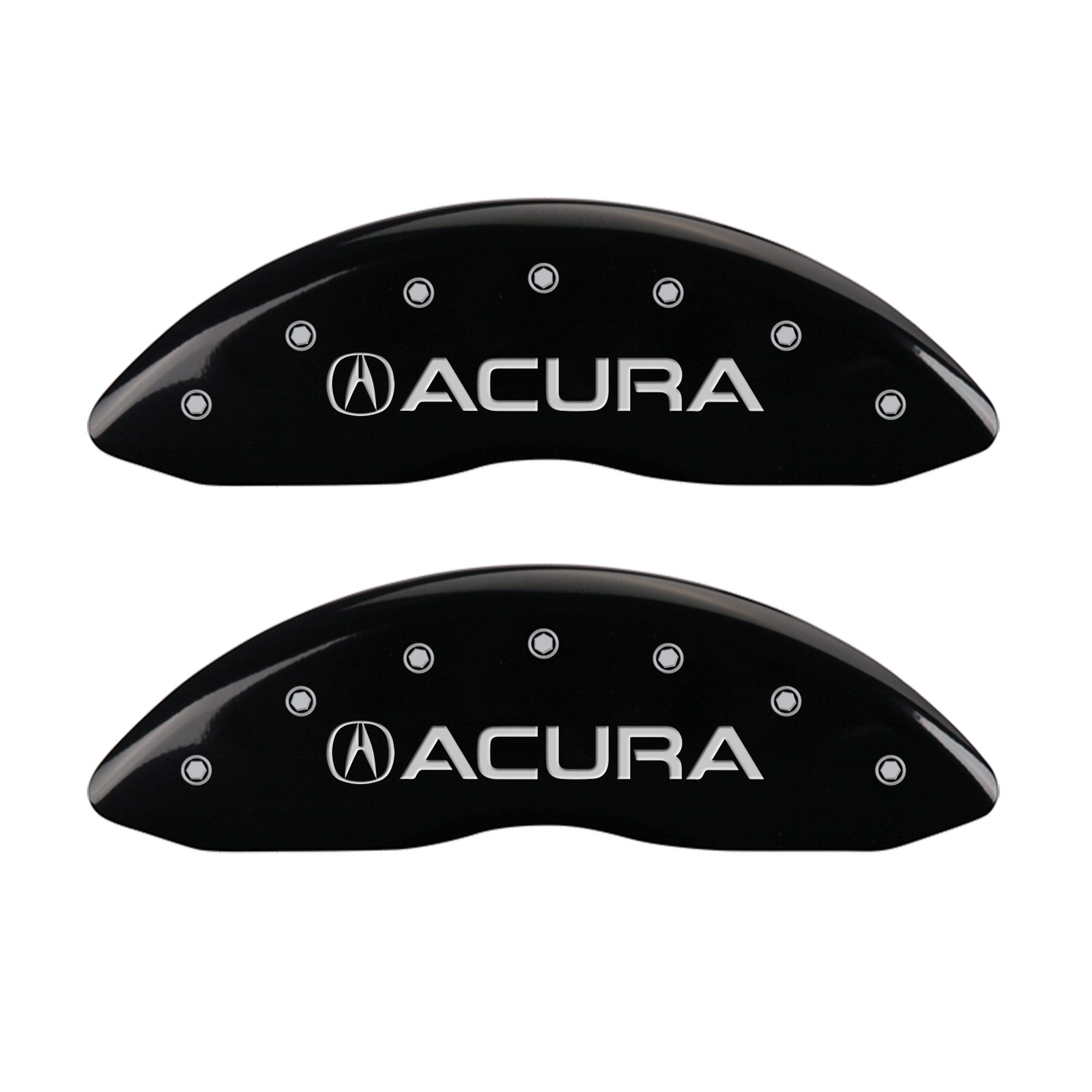 Set Of 4 Black Caliper Covers With Acura/MDX Logo For 2017