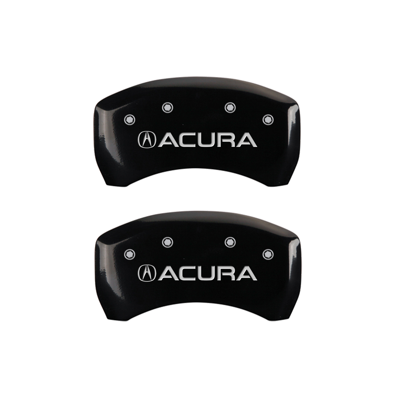Set Of 4 Gloss Black 'Acura' Caliper Covers For 2015-2020