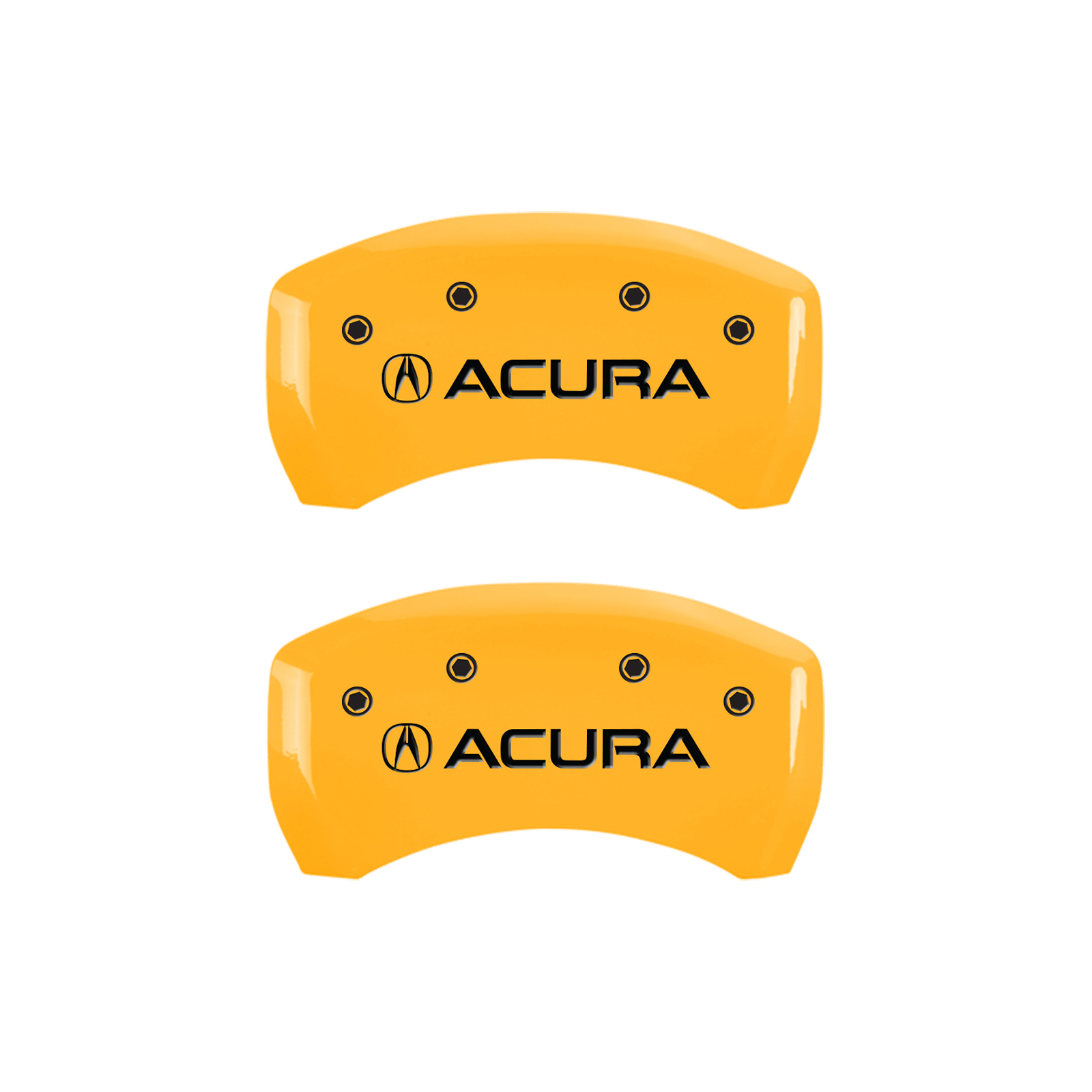 Set Of 4 Yellow 'Acura' Caliper Covers For 2015-2020 Acura