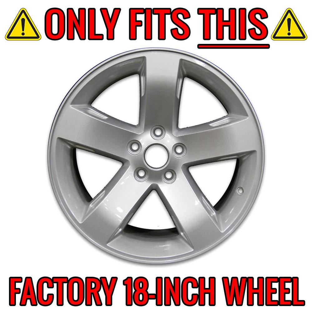 """4 New 2014-2017 Dodge Challenger 20/"""" Black Wheel Skins Hub Caps Full Rim Covers"""