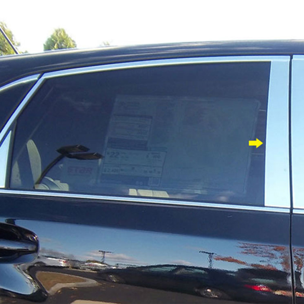 Made in USA Works with 2009-2015 Toyota Venza 6PC with Triangle Piece Stainless Steel Chrome Pillar Post Trim