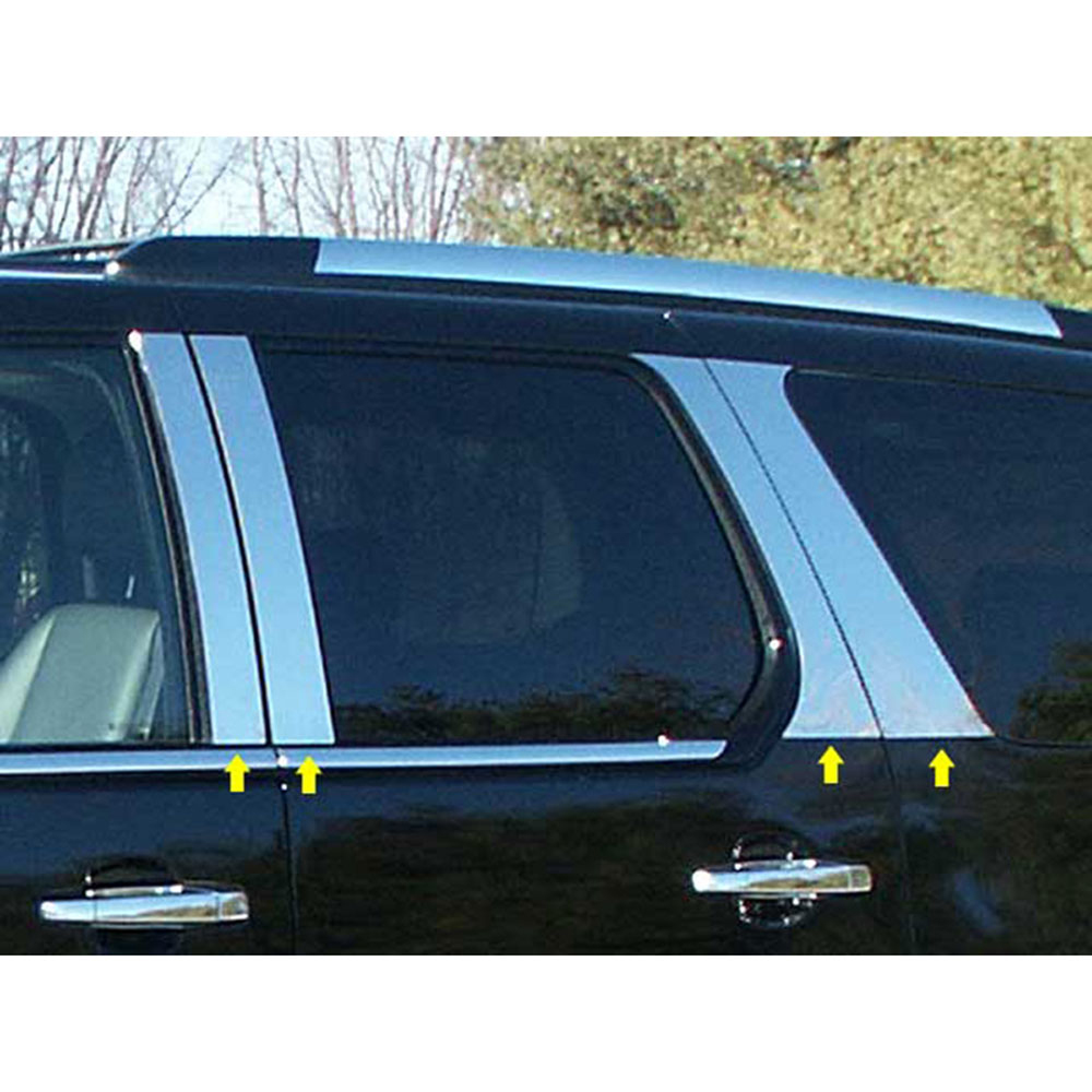 Chrome PIllar Posts for CADILLAC SRX  FITS 2004-2009 includes 6 PIECES