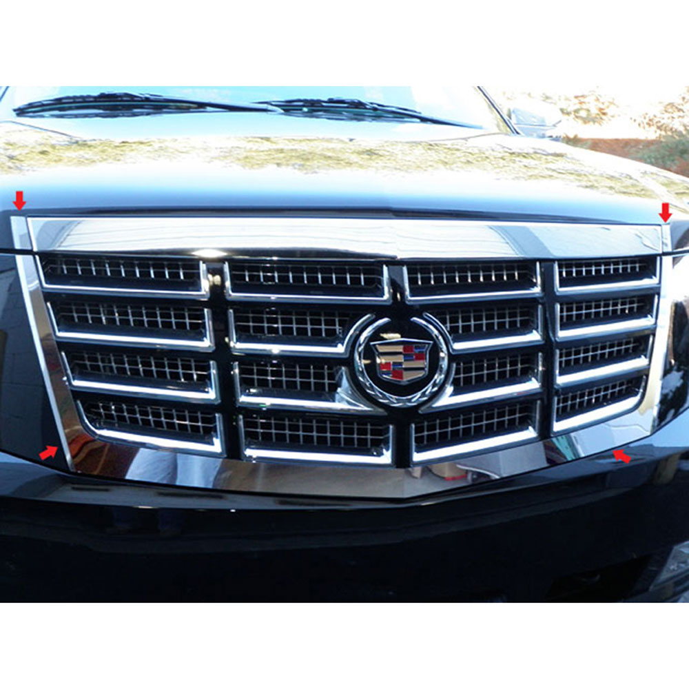 Used Cadillac Escalade Parts For Sale: 2007-2014 Cadillac Escalade 4pc. Luxury FX Chrome Grille Surround