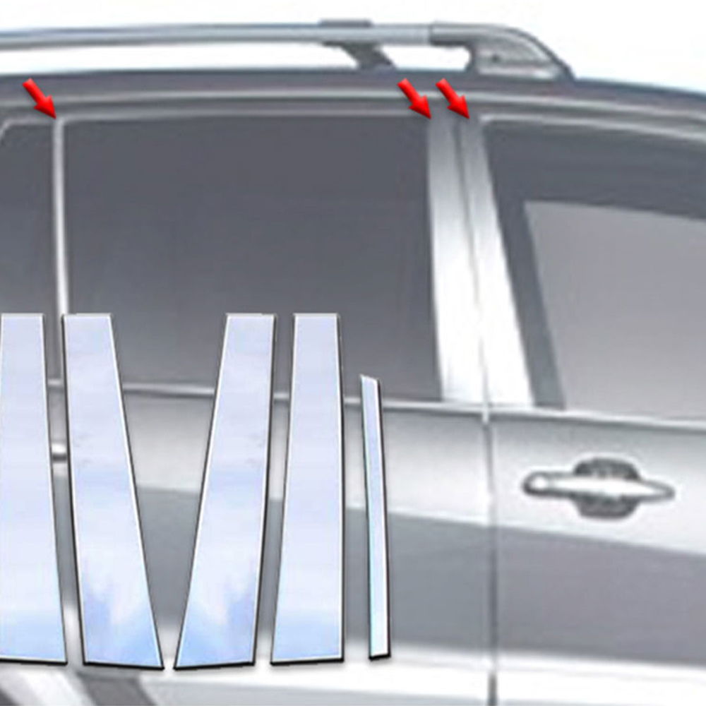 Upgrade Your Auto 8pc Stainless Steel Pillar Post Covers for 2020 Toyota Highlander