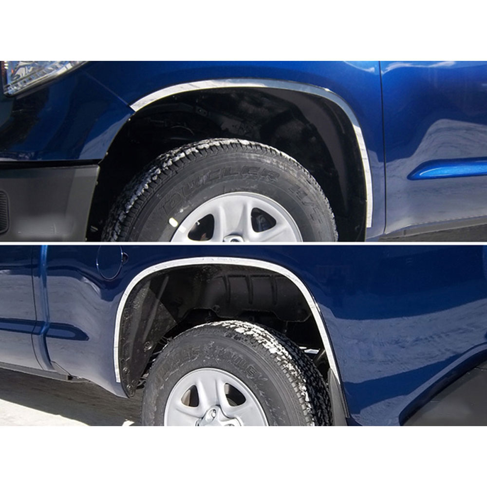 2019 Toyota Tundra Rumors Review: 4pc. Luxury FX Stainless 1' Fender Trim W/3M&Gasket For