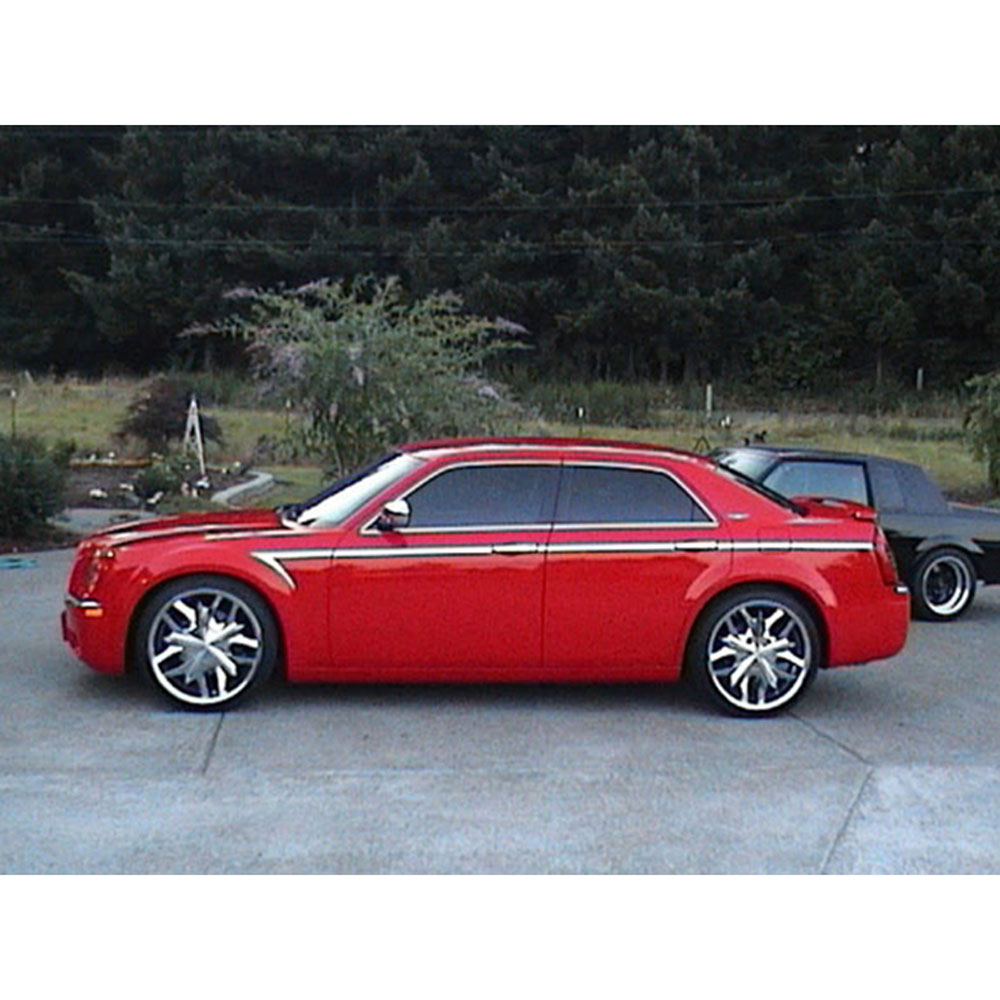14p Luxury FX Chrome Arrow Accent Trim For 05-10 Chrysler