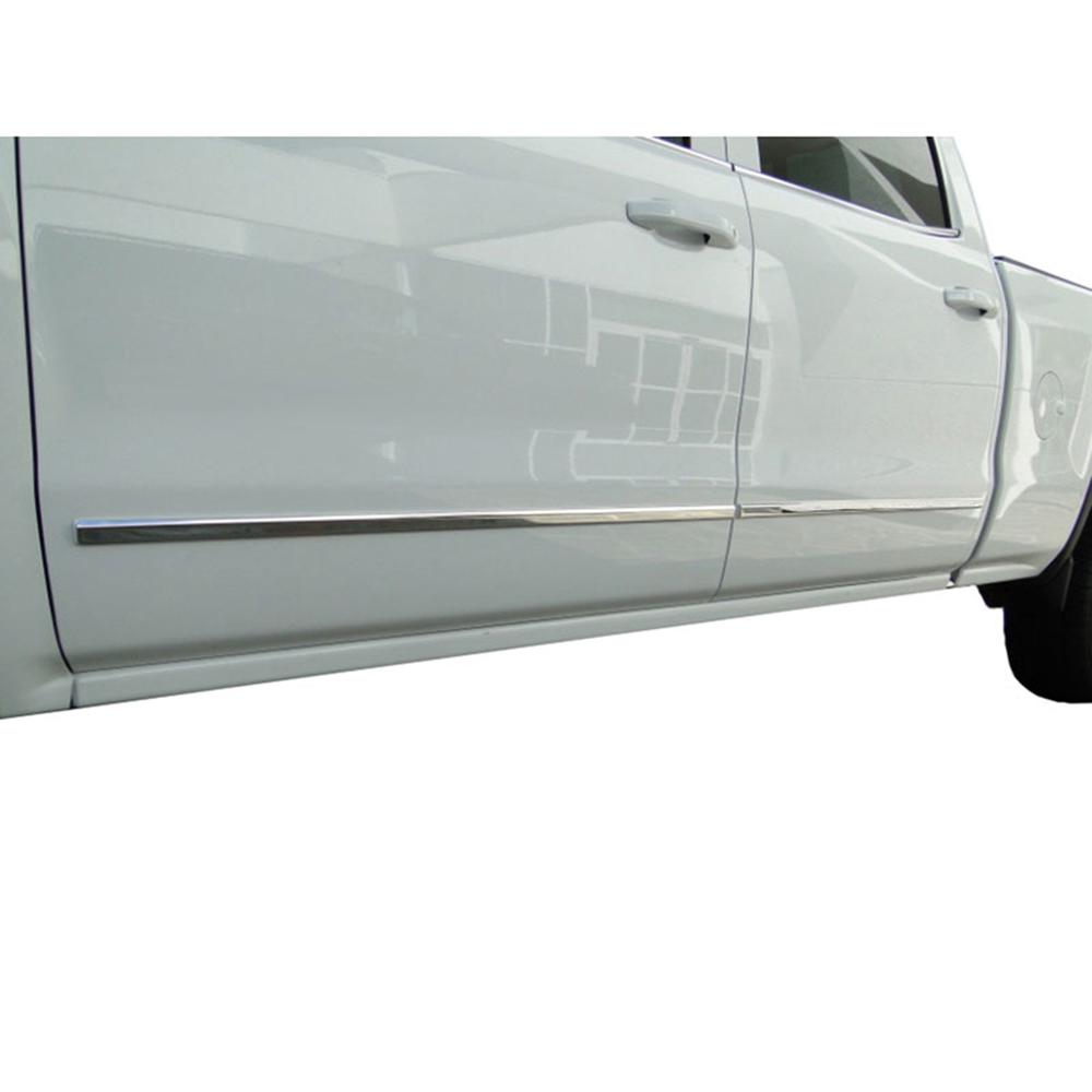 Gmc Canyon Extended Cab Chrome Body Side Molding 2015: 2014-16 Chevy Silverado Double Cab Chrome Body Side