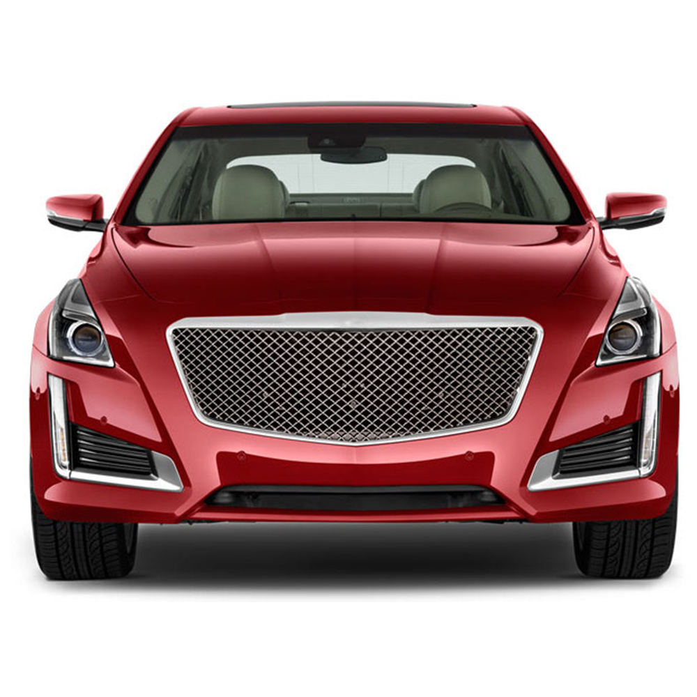 Premium FX 1pc Chrome CTS-V Style Mesh Replacement Grille
