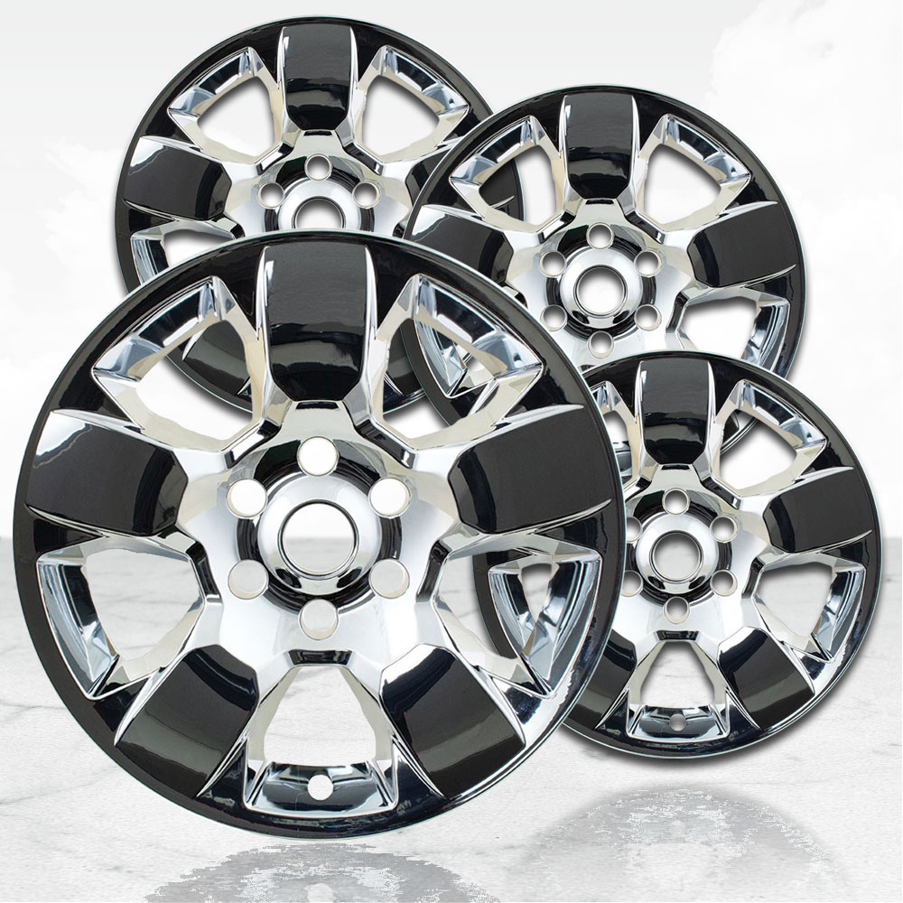 """20/"""" Gloss Black Wheel Skins for 2008-2013 Dodge RAM 1500-2363 Set of 4"""