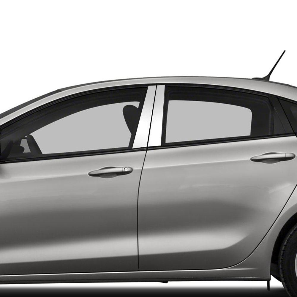 Fits Dodge Dart 2013-up Chrome Mirror B-Pillar Door Pillar Covers Post Accessori