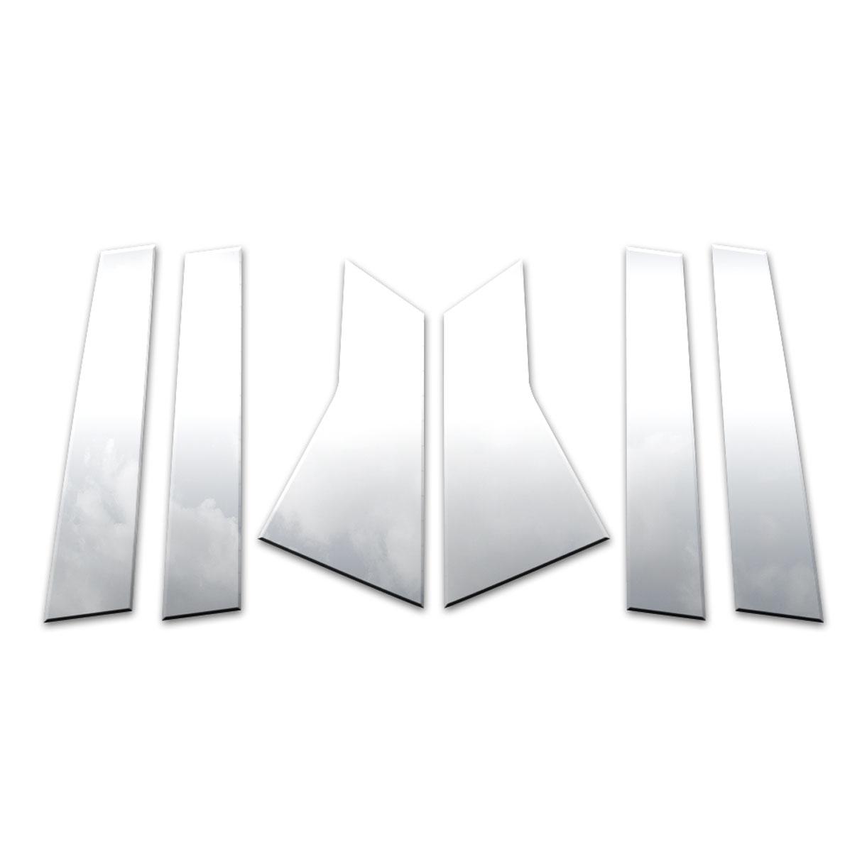 Diamond Grade 6pc Stainless Steel Pillar Post Covers For